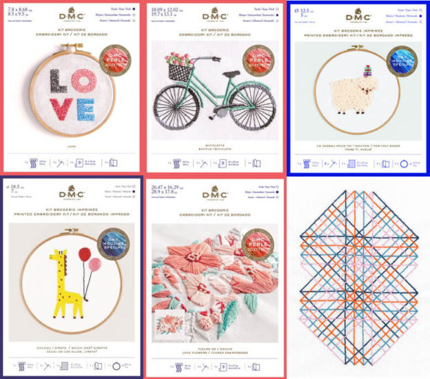 DMC Kits & Supplies now available from Love Craft - Embroidery Kits