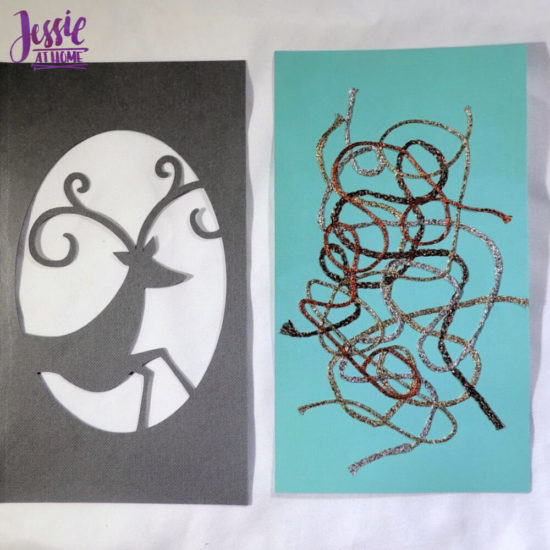 Iron-on Thread Layered Cards tutorial by Jessie At Home - random thread