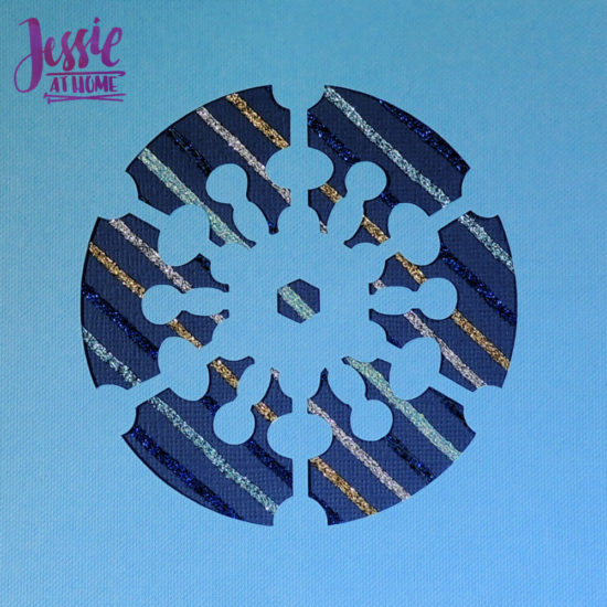Iron-on Thread Layered Cards tutorial by Jessie At Home - snowflake done