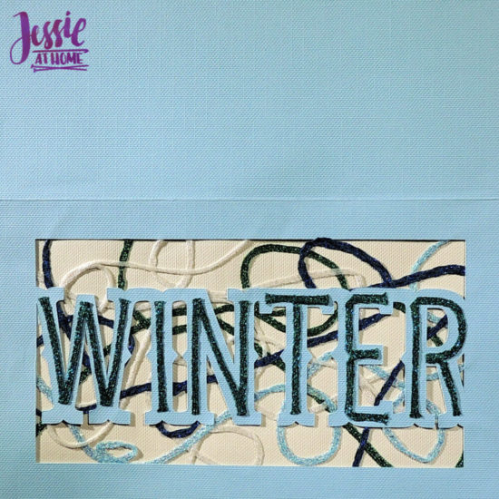 Iron-on Thread Layered Cards tutorial by Jessie At Home - winter done