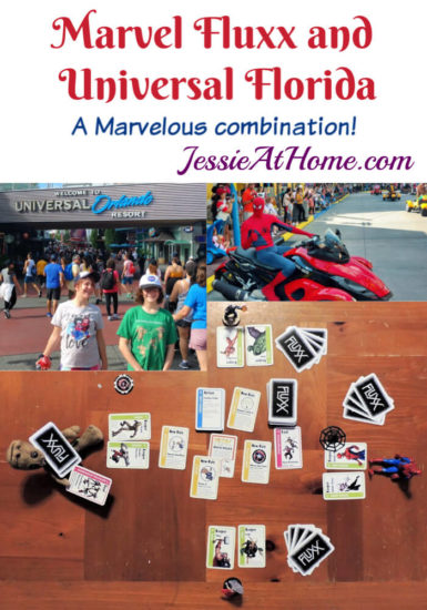 Marvel Fluxx and Universal Florida - Jessie At Home