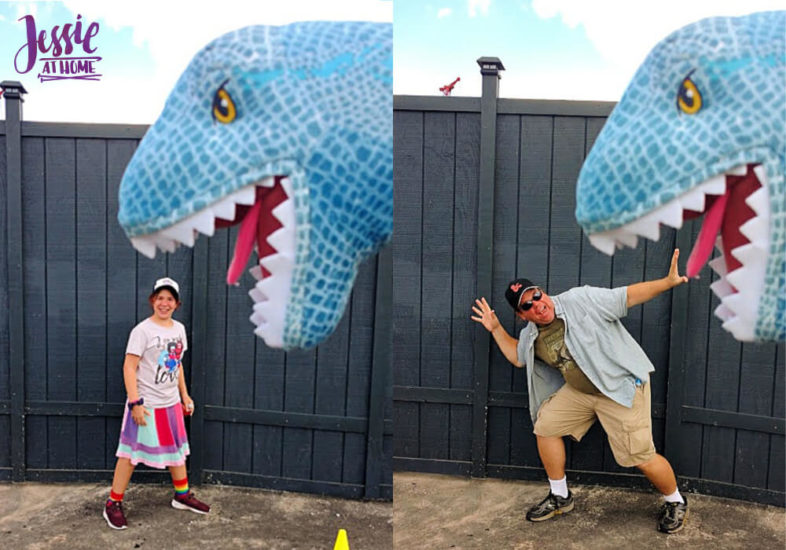 Marvel Fluxx and Universal Florida - Jessie At Home - T-Rex Attach