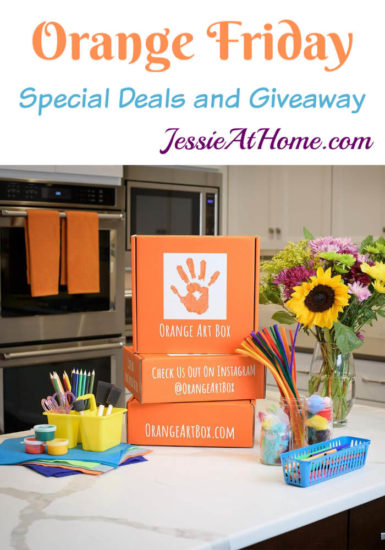 Orange Friday - Orange Art Box Special Deals and Giveaway from Jessie At Home