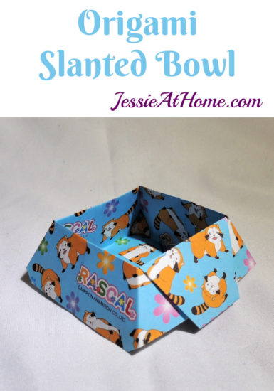 Origami Slanted Bowl Tutorial by Jessie At Home