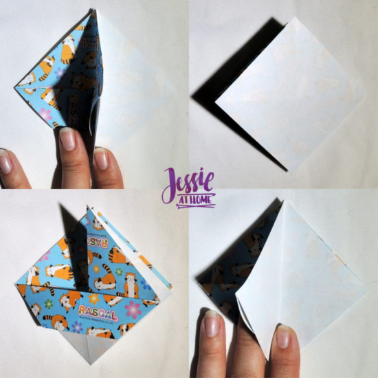 Origami Slanted Bowl Tutorial by Jessie At Home - Step 4