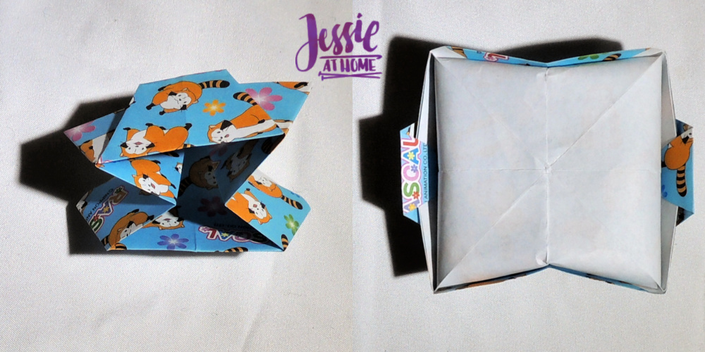 Origami Slanted Bowl Tutorial by Jessie At Home - Step 7