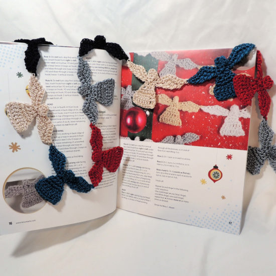 Retro Christmas Ornaments - crochet pattern book review from Jessie At Home - Angel Bunting