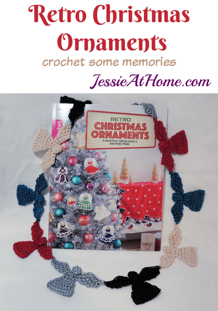 Retro Christmas Ornaments - crochet pattern book review from Jessie At Home