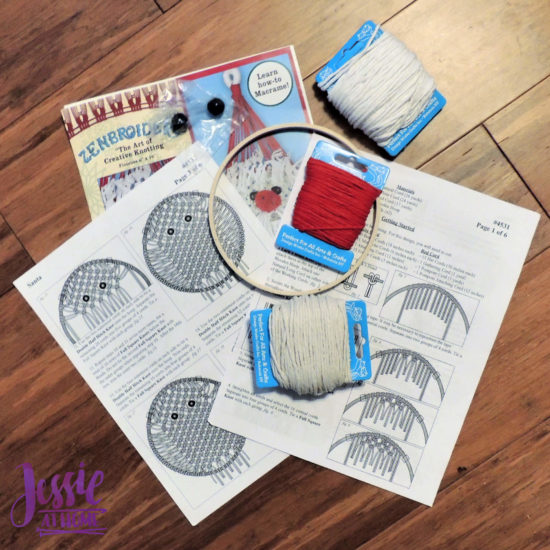 Santa Macrame Kit Review from Jessie At Home - Contents