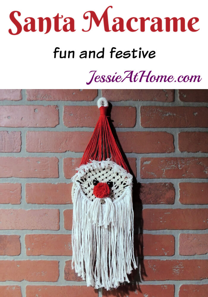 Santa Macrame Kit Review from Jessie At Home