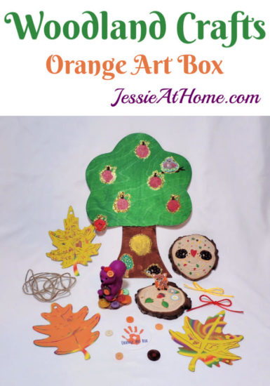 Woodland Kids Crafts - November Orange Art Box - Jessie At Home