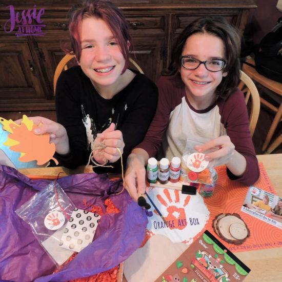Woodland Kids Crafts - November Orange Art Box - Jessie At Home - All the Supplies