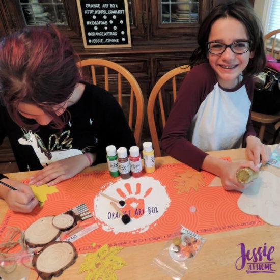Woodland Kids Crafts - November Orange Art Box - Jessie At Home - Crafting Away