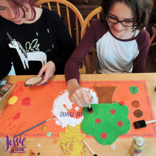 Woodland Kids Crafts - November Orange Art Box - Jessie At Home - Creating