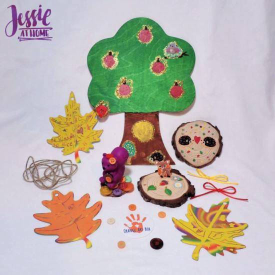 Woodland Kids Crafts - November Orange Art Box - Jessie At Home - Creations