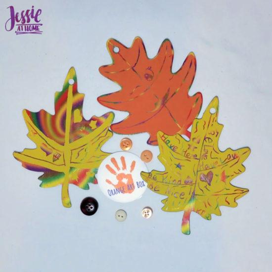 Woodland Kids Crafts - November Orange Art Box - Jessie At Home - Pretty Leaves