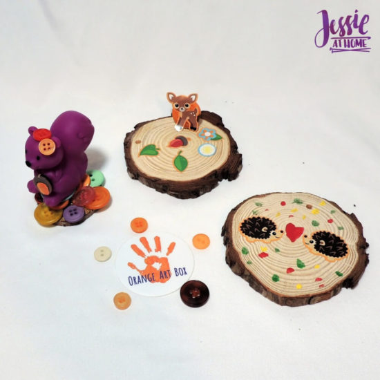 Woodland Kids Crafts - November Orange Art Box - Jessie At Home - Woodland Fun
