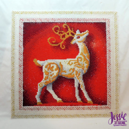 Holiday Reindeer Framed Diamond Art Tutorial by Jessie At Home - All Done