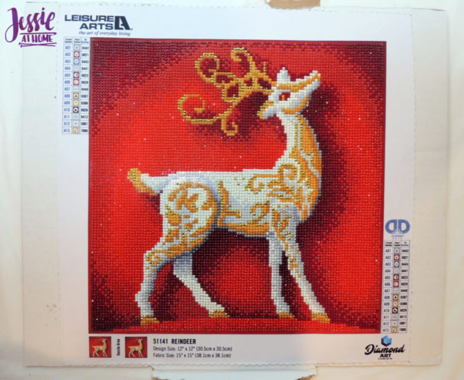 Holiday Reindeer Framed Diamond Art Tutorial by Jessie At Home - On Cardboard