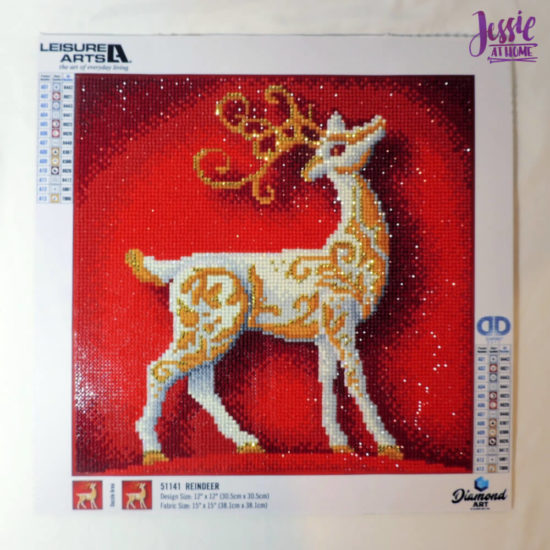 Holiday Reindeer Framed Diamond Art Tutorial by Jessie At Home - Ready for Frame